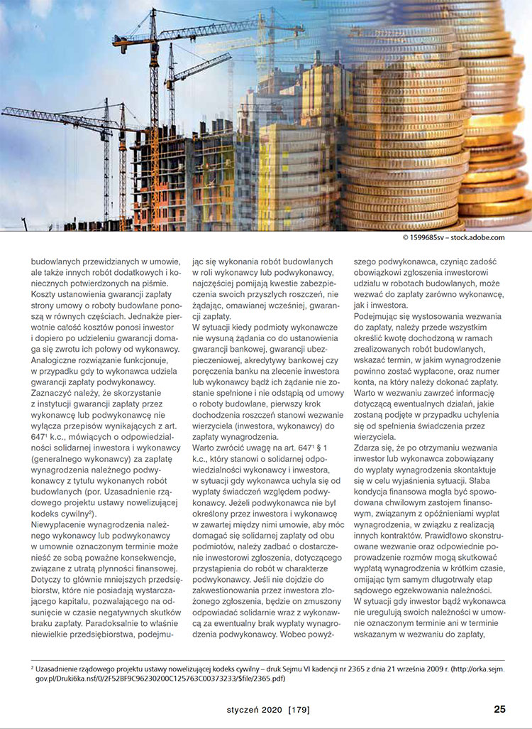 Prawo budowlane - Kancelaria KRS Łódź - Bezzasadne uchylanie się Inwestora od odbioru robót budowlanych